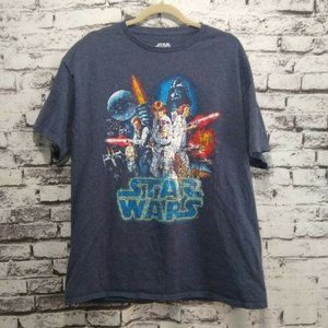 Star Wars Graphic Tee Shirt Top Luke Leia Han Solo
